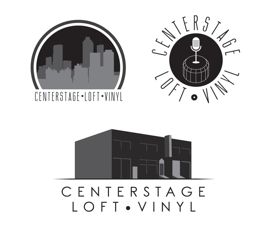 Centerstage Theater Proposed Rebranding Logos