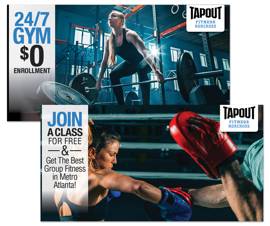 Tapout Gym Facebook Ads