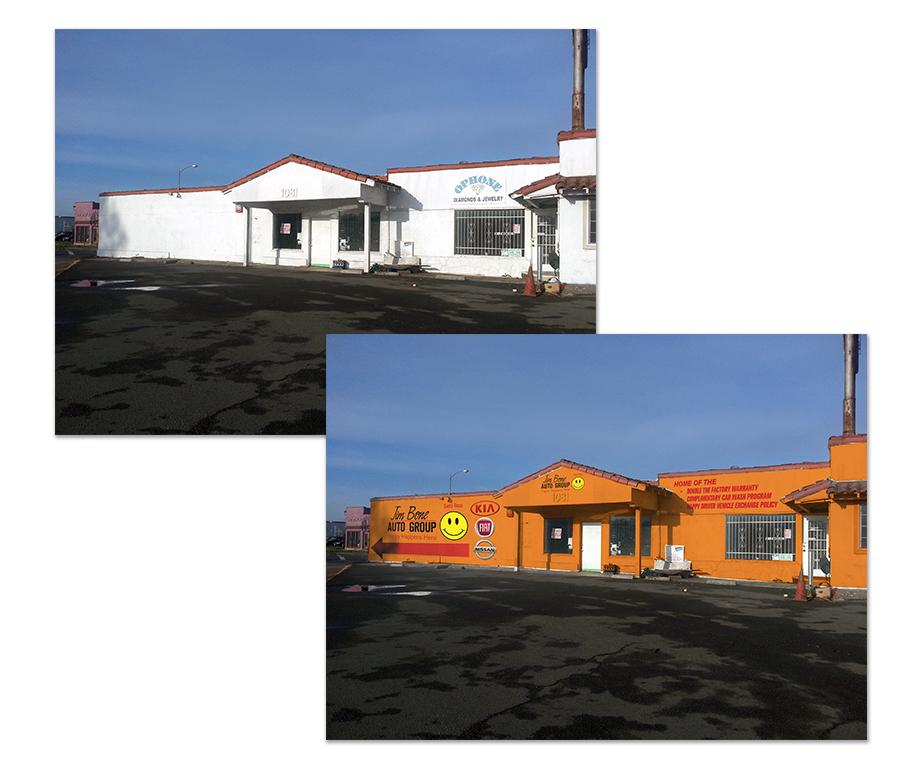 Exterior Building Mockup