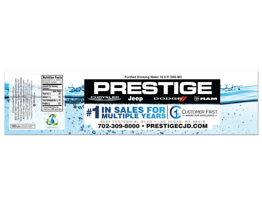In Store Branding (Water Bottle)